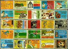 25 alte Gasthaus-Streichholzetiketten aus Deutschland #899