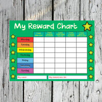 Reusable Kids Childrens Reward Chart  - School Behaviour Free Pen and Stickers