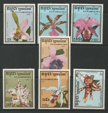 Thematic Stamps Plants - KAMPUCHEA 1988 ORCHIDS 7v 929/35 mint