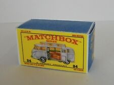 Repro Box Matchbox 1:75 Nr.34 VW Camper mit Aufstelldach silber