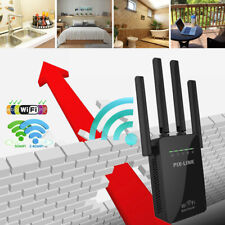 1200Mbps WiFi Range Extender Internet Booster Wireless Signal Repeater Black USA