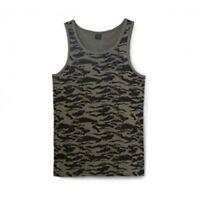 Oakley Men's Vesuvius Camo Tank Top Shirt - Worn Olive