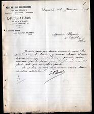 """PARIS (XI°) PEAUX de LAPINS pour FOURRURE """"J.-B. DOLAT"""" en 1911"""