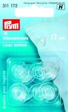 16 PULSANTI Servizio lavanderia 17mm poliestere trasparente Koch MANCANZA fissa