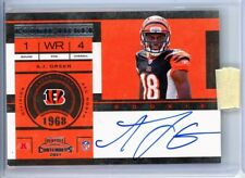 AJ Green 2011 Panini Contenders Rookie Ticket Auto On Card Bengals