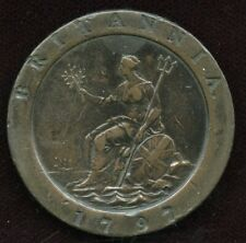 1797 Cartwheel 2 Pence George III GREAT BRITAIN Coin - VF