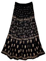 RAYON skirt Indian gypsy retro WOMEN EHS boho jupe hippY falda kjol vintage look