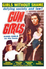 1957 GUN GIRLS VINTAGE MOVIE POSTER PRINT 54x36 BIG