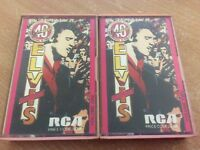 ELVIS PRESLEY ELVIS'S 40 GREATEST (VOLUME 1 & 2) (1978) CASSETTE TAPE ALBUM MB9