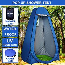 Pop Up Camping Shower Toilet Tent Outdoor Privacy Change Room Shelter+Shower Bag
