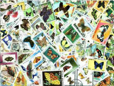 Butterflies on Stamps Collection - 200 Different Stamps
