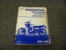 1984-1985 Honda CB700SC Nighthawk S Motorcycle Shop Service Repair Manual