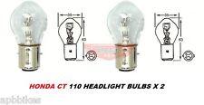 HONDA CT 110 -90 HEAD LIGHT BULB SET X 2 POSTIE POSTY BIKE HEAD LIGHT 2 X BULBS