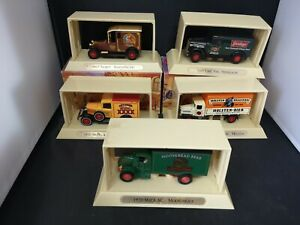 M04-MATCHBOX MOY 'GREAT BEERS OF THE WORLD' LOT OF FIVE BOXED MODELS
