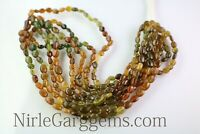 Wholesale Natural Petrol Tourmaline Smooth Drill Oval gemstone beads 15 Inch AAA