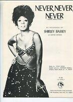 Never,Never,Never  Shirley Bassey   Sheet Music