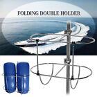 Stainless Steel Folding Double Fender Holder Inflatable Boat Fender Rack 9.5inch