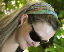 Rainbow Yoga Headband, Girls Hair Accessories, Womens Sweatband, Head Wrap Locs