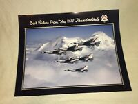 "1991 The US Air Force Paper Poster 20"" x 16""  Best Wishes From USAF Thunderbirds"