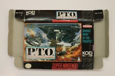 P.T.O: Pacific Theater of Operations SUPER NINTENDO SNES Box Only