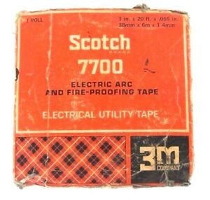 NIB SCOTCH 7700 ELECTRIC ARC AND FIRE-PROOFING TAPE 3'' X 20' X .055''