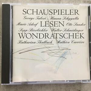 SCHAUSPIELER LESEN WONDRASCHEK - V. A. (Blue Angel BA 64932M / neu)