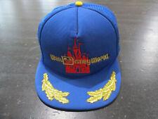 VINTAGE Disney Hat Cap Blue Gold Walt Disney World Trucker Mesh Mens 80s