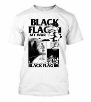 Black Flag band My War T-Shirt Funny Cotton Tee Vintage Gift For Men Women
