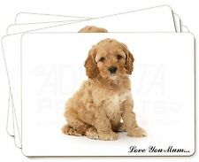 Cockerpoodle Puppy 'Love You Mum' Picture Placemats in Gift Box, AD-CP6lymP