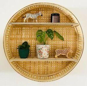 New Beautiful Gorgeous Design Rattan Wall Shelf Perfect Storage Unit BH-21
