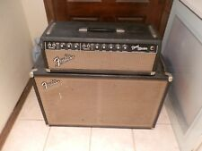 """1964 FENDER BAND MASTER TUBE HEAD AMPLIFIER  MATCHING CABINET W/2 12"""" SPEAKERS,"""