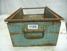 1185. Alte Metall Kiste Stapelkiste