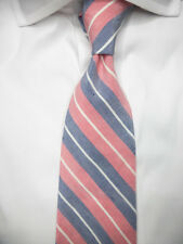 New BROOKS BROTHERS Slim Silk Linen Tie XL Extra Long - $79.50 ~ NWT  USA