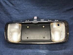 1998 1999 2000 2001 2002 Lincoln Town Car Center Trunk Panel License Plate Pock