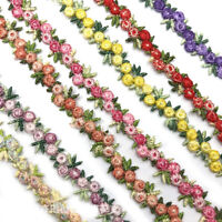 1Yard Flowers trim satin lace ribbon CRAFTS scrapbook crafts sewing