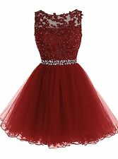 Formal Short Lace Tulle Ball Homecoming Prom Cocktail Bridesmaid Evening Dresses