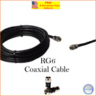 RG6 PPC F Black Coaxial Coax Cable Wire Satellite HD Antenna TV 0.5 ft-75 ft lot