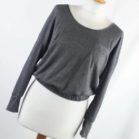 New Look Womens Size 12 Grey Plain Basic Tee