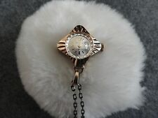 Up Necklace Pendant Watch with Chain Rodania 17 Jewels Incabloc Swiss Made Wind
