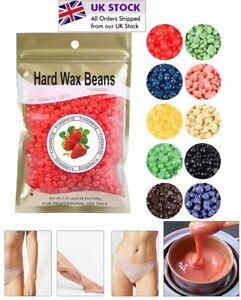 Depilatory Hard Wax Beans Pellet Hot Brazilian Waxing Beads Body Hair Removal UK