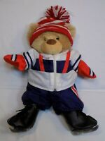Gund Plush Teddy The Bear Factory Winter Ice Skating Skater Jacket Hat Pants LOT