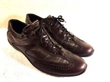 Stonefly women's Brown & Metallic Leather Lace Up Walking Shoes Size 42 Nice!!