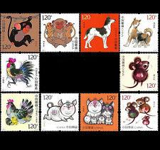 10 PCS Commemorative Stamp Collect China Chinese 2016-2020 Monkey-Rat Zodiac