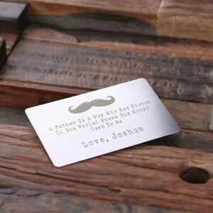Personalised Stainless Steel Wallet Card Credit Card Size Engraved Expression