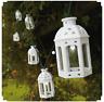 10x White Mini Moroccan Lantern Solar Powered Outdoor Fairy Garden String Lights