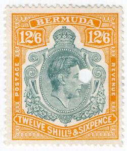 (I.B) Bermuda Revenue : Duty Stamp 12/6d