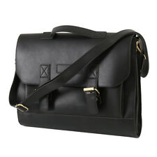 Bag Leather Vintage Men Messenger Shoulder Satchel School Briefcase Work Laptop