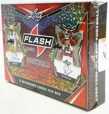 2020 NFL PANINI LEAF FLASH FOOTBALL HOBBY BOX! FACTORY SEALED, 5 Auto cards.
