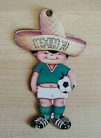 Vtg 70s FIFA World Cup Mexico Two Sided Juanito Futbol Soccer Mascot Card Figure