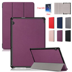 For Huawei MediaPad T5 10 Tablet 10.1'' Magnetic Leather Folio Case Cover +Film